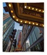 Boston Paramount Theater District Fleece Blanket