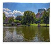 Boston Public Garden Fleece Blanket
