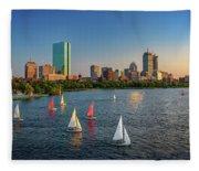 Boston Skyline Summer 2018 Fleece Blanket