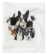 Boston Terrier Fleece Blanket