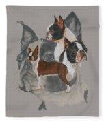 Boston Terrier Revamp Fleece Blanket