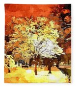 Boston Winter Fleece Blanket