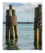 Boston's Harbor Fleece Blanket