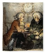 Boswell And Johnson, 1786 Fleece Blanket