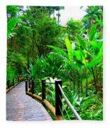 Botanic Gardens Trail Fleece Blanket