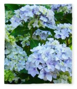 Botanical Art Prints Floral Hydrangea Flower Garden Baslee Fleece Blanket