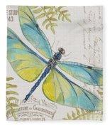 Botanical Dragonfly-jp3423b Fleece Blanket