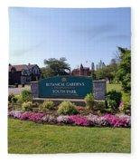 Botanical Gardens Floral Landscaped Entrance  Fleece Blanket
