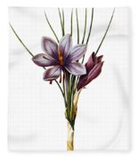 Botany: Saffron Fleece Blanket