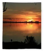 Botswanna Sunset Fleece Blanket