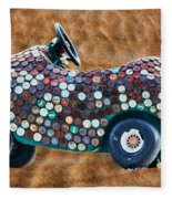 Bottle Cap Buggy Fleece Blanket
