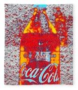 Bottle Of Coca-cola Fleece Blanket