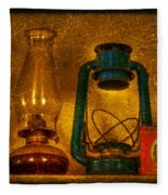 Bottles And Lamps Fleece Blanket