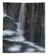 Bottom Of A Waterfall #3 Fleece Blanket