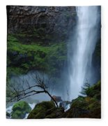 Bottom Of Watson Falls Fleece Blanket