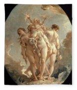 Boucher: Three Graces, 18 C Fleece Blanket