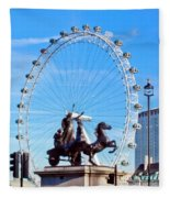 Boudica Riding The Millennium Wheel Fleece Blanket