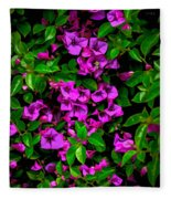 Bougainvillea Floral Print Fleece Blanket
