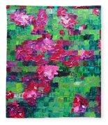 Bouganvillea - Tiled Fleece Blanket