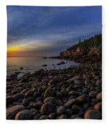 Boulder Beach Sunrise Fleece Blanket
