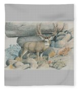 Boulder Buck  Fleece Blanket