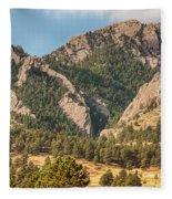 Boulder Colorado Rocky Mountain Foothills Fleece Blanket