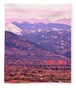 Boulder Colorado Sunrise Panorama Fleece Blanket