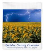 Boulder  County Colorado Fleece Blanket