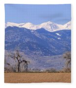 Boulder County Colorado Panorama Fleece Blanket