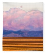 Boulder County Farm Fields At First Light Sunrise Fleece Blanket