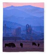 Boulder County Industry Meets Country Fleece Blanket