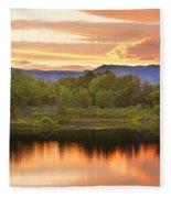 Boulder County Lake Sunset Landscape 06.26.2010 Fleece Blanket