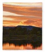 Boulder County Lake Sunset Vertical Image 06.26.2010 Fleece Blanket