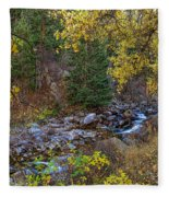 Boulder Creek Autumn View  Fleece Blanket
