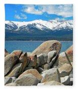 Boulder Shore Lake Tahoe Fleece Blanket