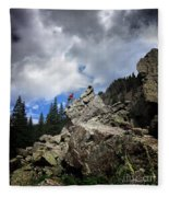 Bouldering On The Flint Creek Trail - Weminuche Wilderness Fleece Blanket