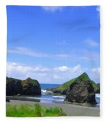 Boulders In Oregon Fleece Blanket