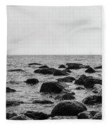 Boulders In The Ocean Fleece Blanket