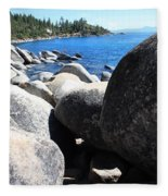 Boulders On Lake Tahoe Fleece Blanket