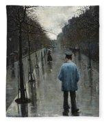 Boulevard Des Batignolles Fleece Blanket
