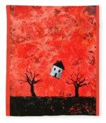Bouncing House Fiery Sky Fleece Blanket
