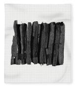 Boundaries- Art By Linda Woods Fleece Blanket by Linda Woods
