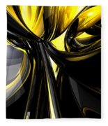 Bounded By Light Abstract Fleece Blanket