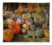 Bountiful Fall Harvest Fleece Blanket
