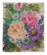Bouquet 2 Fleece Blanket