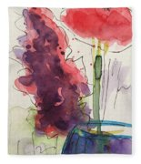 Bouquet Abstract 1 Fleece Blanket