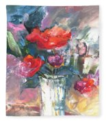 Bouquet De Chez Moi 01 Fleece Blanket