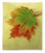 Bouquet De Feuilles / Bunch Of Leaves Fleece Blanket