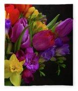 Floral Dance Fleece Blanket