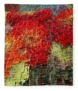 Bouquet Of Colors Fleece Blanket